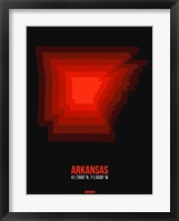 Framed Arkansas Radiant Map 6