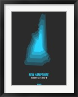 Framed New Hampshire Radiant Map 4