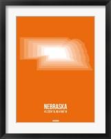 Framed Nebraska Radiant Map 2