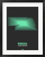 Framed Nebraska Radiant Map 4