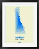 Framed Delaware Radiant Map 1
