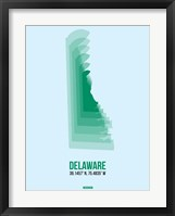 Framed Delaware Radiant Map 2
