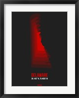 Framed Delaware Radiant Map 4