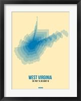 Framed West Virginia Radiant Map 1