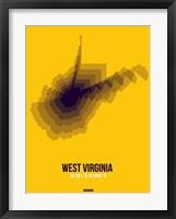 Framed West Virginia Radiant Map 3