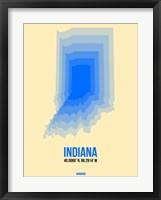 Framed Indiana Radiant Map 1