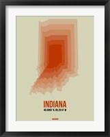 Framed Indiana Radiant Map 3