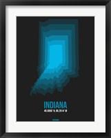 Framed Indiana Radiant Map 5