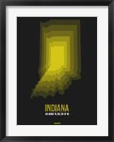 Framed Indiana Radiant Map 6