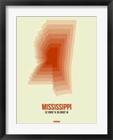 Framed Mississippi Radiant Map 1