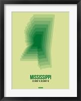 Framed Mississippi Radiant Map 3