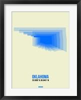 Framed Oklahoma Radiant Map 1