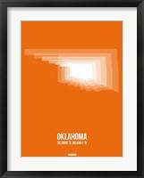 Framed Oklahoma Radiant Map 3