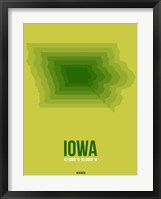 Framed Iowa Radiant Map 2