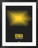 Framed Iowa Radiant Map 4
