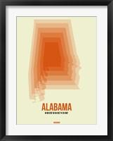 Framed Alabama Radiant Map 1
