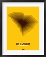 Framed South Carolina Radiant Map 3