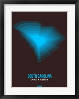 Framed South Carolina Radiant Map 5