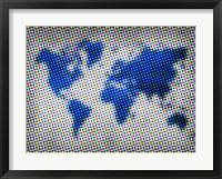 Framed Dotted World Map 3