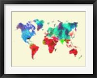 Framed Dotted World Map 4