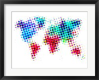 Framed Dotted World Map 6