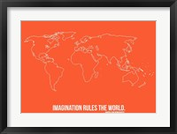 Framed World Map Quote 3