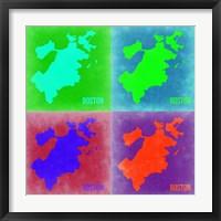 Framed Boston Pop Art Map 2