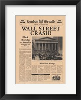 Wall Street Crash! Framed Print