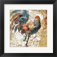 Framed Rooster Flair I