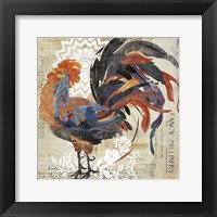 Framed Rooster Flair V