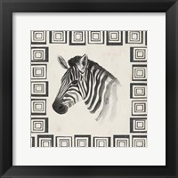 Safari Zebra II Framed Print