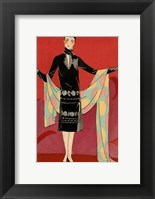 Framed Vintage Couture IX