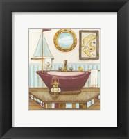 Nautical Bath I Framed Print