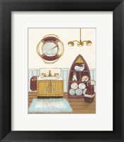 Nautical Bath II Framed Print