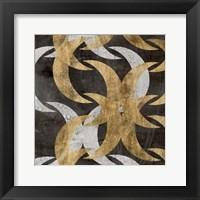 Golden Wave I Framed Print