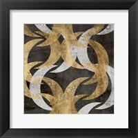 Golden Wave II Framed Print