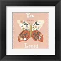 Folk Butterfly I Framed Print
