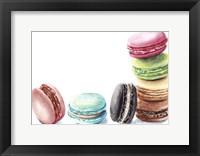 Framed 7 Macarons