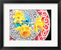 Framed Flower on Plate II