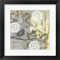 Serene Bird & Branch II Framed Print