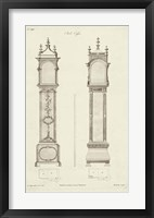 Chippendale Clock Cases I Framed Print