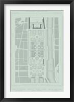 Mint & Slate Garden Plan II Framed Print
