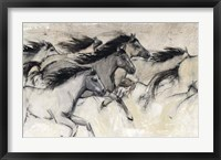 Horses in Motion I Framed Print