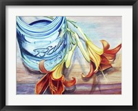 Ball Jar Flower I Framed Print