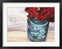 Framed Ball Jar Flower III