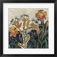 Floral Cutout I Framed Print