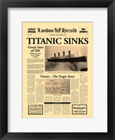 Framed Titanic Sinks