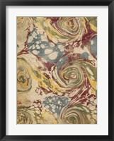 Marbleized I Framed Print