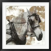 Driving Horses II Framed Print