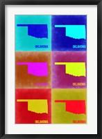 Framed Oklahoma Pop Art Map 2